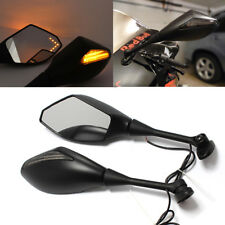 Motorcycle LED Turn Signal Mirrors For CBR 600RR 1000RR SUZUKI GSXR MATTE BLACK