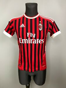 AC MILAN 2011 2012 SHIRT HOME FOOTBALL SOCCER JERSEY ADIDAS BOYS SIZE L
