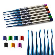 Set di 7 Dental PDL Luxating ASCENSORI precisi suggerimenti in titanio color radice Chirurgia