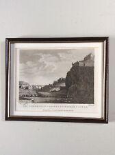 Framed engraving 'New Bridge at Edinburgh & ... Castle' - Godfrey 1777
