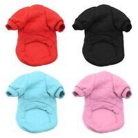 Small Dog Cat Winter Warm Fleece Coat Outwear Puppy Kitten Jumper Jacket Apparel
