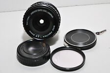 ASAHI smc PENTAX 1:2.8 24mm wide angle MF Lens ++EC++ w case UV filter & caps 8+