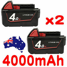 2x 18V 4.0Ah Red Lithium Ion XC 4.0 Battery For Milwaukee M18 M18B4 48-11-1828
