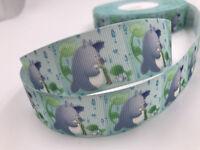 DIY 5Yard 1'' 25mm Totoro Printed Grosgrain Ribbon Hair Bow Sewing Crafts Ribbon