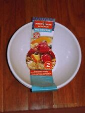 """Nordic Ware Microwave safe Everyday Bowls (Set of 2), 6"""", Oatmeal Color"""