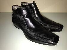 Todd Welsh Men's Ankle Boots Sz 13, Black, Leather & Goat Fur