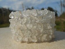HANDMADE HEALING CRYSTAL QUARTZ FUSE  ELASTIC BAND BRACELET. STRETCH-NO METAL