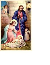 "Nativity Scene Print 5.5"" x 8.25"" Made in 1940 USA"