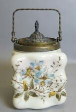 Rare Wavecrest Egg-Crate Biscuit Barrel Jar c. 1900  C. F.Monroe Art Glass