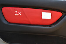 FITS MG MGF MK1 95-99 2 x DOOR CARD COVERS LEATHER red