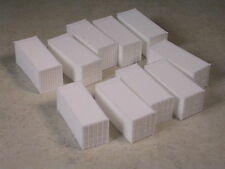 N Scale 10 @ 20 foot Rib Side Shipping Containers, #230558