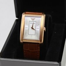NEW AUTHENTIC EMPORIO ARMANI CLASSIC MARCO SLIM ROSE GOLD BROWN MEN AR1870 WATCH