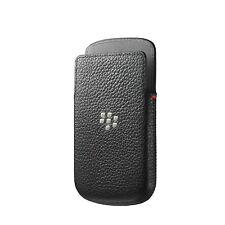 Genuine Blackberry Q10 Black Leather Pocket Case Cover ACC-50704-201