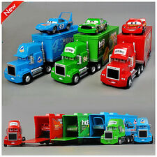 Set 3 Disney Pixar Cars Movie  86htB 43 King Lightning McQueen & Mack Truck Toy