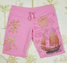 DISNEY Pirates of the Caribbean at World`s End Sz S Pink Gold Graphic Shorts