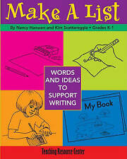 NEW Make A List: Words & Ideas To Support Writing by Kim Scattareggia