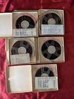 """LOT of 5 Melody Reel To Reel Magnetic 1/4"""" Rare Emil Ascher Verified Content"""
