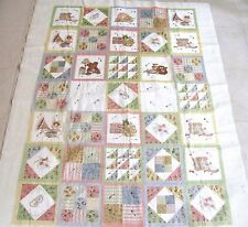"""Pastel Patchwork Quilt Top Crib Toddler 36 x 53"""" With Batting & Back, Spot"""