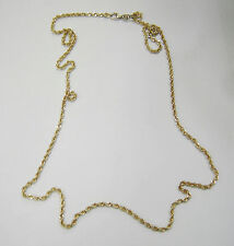 NEW UNWORN VERMEIL GOLD ON STERLING SILVER TWISTED ROPE CHAIN NECKLACE  565-C