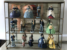 Franklin Mint 1990 Gone With The Wind Resin Figures Lot of 14 With Glass Case