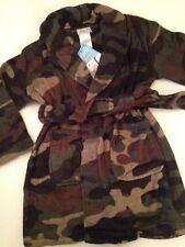 Komar Kids Little Boys Robe Size 4/5 XS Army Green Camo