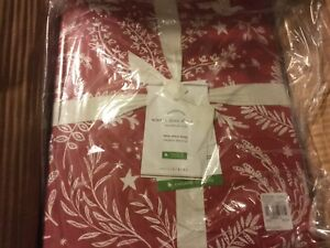POTTERY BARN WINTER Dove TWIN Organic Cotton Sheet Set Christmas Sold Out
