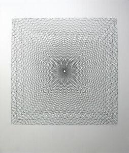 LUDWIG WILDING - Kinetische Komposition. Handsignierte Zinkographie. OP Art