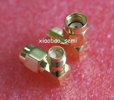 1X Adapter 90° RP.SMA male jack to RP.SMA female plug connector right angle M/F