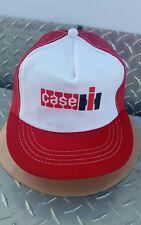 Vintage Case IH white/Red foam mesh youth Cap Hat Trucker rare htf licensed nos