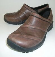 Merrell Wos Shoes COFFEE BEAN US6.5 Brown Leather Slip-On Cushioned Walking 24