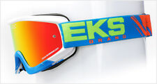 **SALE** Adult EKS Goggles FADE VOLCANO CYAN Orange Mirrored Lens Motocross SALE