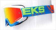 New Adult EKS Goggles FADE VOLCANO CYAN Orange Mirrored Lens Motocross