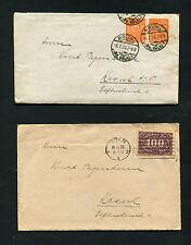 12 Briefe Dt. Reich von 1922 - 1927    (RR-200)