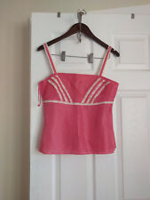 NWT- Ann Taylor Womens 100% Silk Adjustable-Straps Top Cami With-Zipper (Size 4)