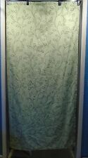 "IKEA Light Green Leaf Pattern Shower Curtain With Plastic Liner 70"" x 70"""