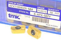 10 NEW TOOLMEX APXT 160432 R-MM PC6510 CARBIDE INSERTS