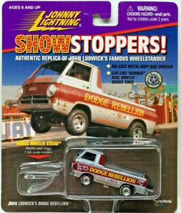 Johnny Lightning SHOW STOPPERS DODGE REBELLION Wheelstander w/RRs