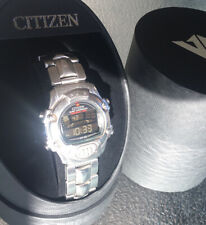 CITIZEN PROMASTER AlarmChrono BASKETBALL TIMER WR100 D310 Full Stainless WithBox