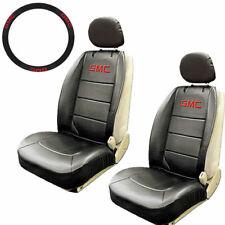 Car Truck sideless synthetic leather Seat Covers Steering Wheel Cover for GMC