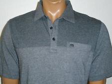 TRAVIS MATHEW Golf Pocket Polo Shirt CHAR GRAY Cotton/Modal blend Mens NEW : Md