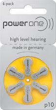 180 Batterie pile apparecchi acustici protesi acustiche POWER ONE 10  PR70 P10