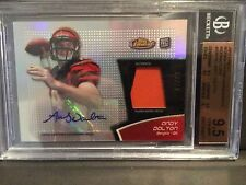Andy Dalton 2011 Finest Refractors Rookie Auto Patch 83/99 BGS 9.5 Gem Bengals