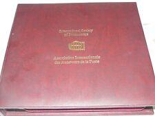 Franklin Mint Intern Society of Postmaster World First Stamp Silber vergoldet