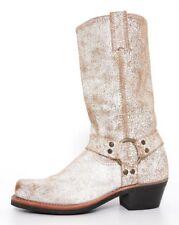 Frye Carmen Leather Distressed Boot White Women Sz 6.5 M 6723 *