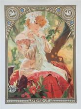Mucha Lefevre Utile Sarah Bernhardt Fine Art Overrun Lithograph S2 Art