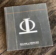 Baume & Mercier Classima MANUALE LIBRETTO Hampton Baumatic Capeland Clifton OEM