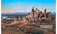 Men of the Open Range by Charles Marion Russell (Art Print of Vintage Art)