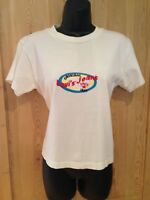 Levi's True Vintage 1990'S White logo graphic T-shirt Top Size M Medium Festival
