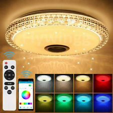 Kristall LED Deckenlampe Deckenleuchte mit Bluetooth Musik Lautsprecher Dimmbar