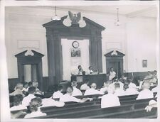 1954 Courtroom Scene Russell County Crime Investigation Alabama Press Photo